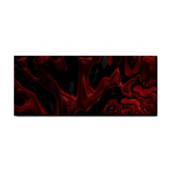 Fractal Red Black Glossy Pattern Decorative Cosmetic Storage Cases by Amaryn4rt