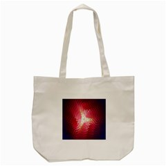 Fractal Red Sample Abstract Pattern Background Tote Bag (cream)