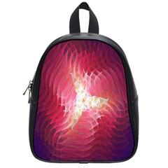 Fractal Red Sample Abstract Pattern Background School Bags (small)  by Amaryn4rt