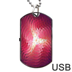 Fractal Red Sample Abstract Pattern Background Dog Tag Usb Flash (one Side) by Amaryn4rt