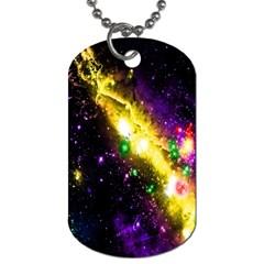 Galaxy Deep Space Space Universe Stars Nebula Dog Tag (one Side) by Amaryn4rt