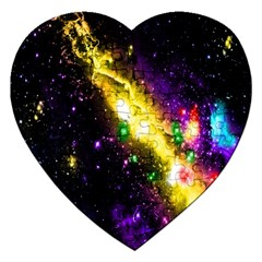 Galaxy Deep Space Space Universe Stars Nebula Jigsaw Puzzle (heart) by Amaryn4rt