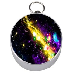 Galaxy Deep Space Space Universe Stars Nebula Silver Compasses by Amaryn4rt