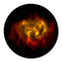 Galaxy Nebula Space Cosmos Universe Fantasy Round Mousepads by Amaryn4rt