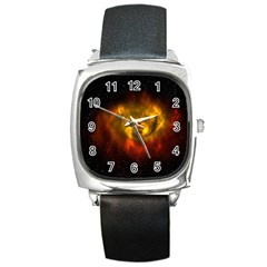 Galaxy Nebula Space Cosmos Universe Fantasy Square Metal Watch by Amaryn4rt