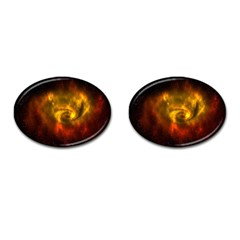 Galaxy Nebula Space Cosmos Universe Fantasy Cufflinks (oval) by Amaryn4rt