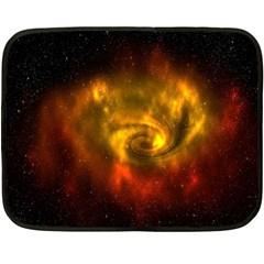 Galaxy Nebula Space Cosmos Universe Fantasy Double Sided Fleece Blanket (mini)  by Amaryn4rt