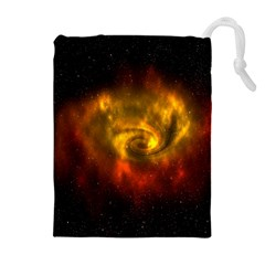 Galaxy Nebula Space Cosmos Universe Fantasy Drawstring Pouches (extra Large) by Amaryn4rt