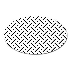 Geometric Pattern Oval Magnet by Amaryn4rt