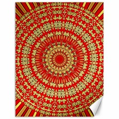Gold And Red Mandala Canvas 12  X 16   by Amaryn4rt