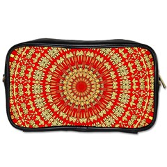 Gold And Red Mandala Toiletries Bags 2 Side by Amaryn4rt