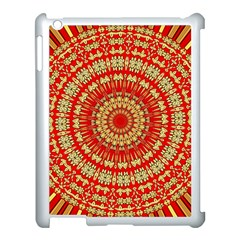 Gold And Red Mandala Apple Ipad 3/4 Case (white) by Amaryn4rt