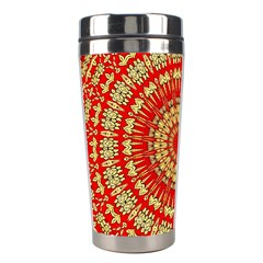 Gold And Red Mandala Stainless Steel Travel Tumblers by Amaryn4rt