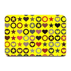 Heart Circle Star Seamless Pattern Plate Mats by Amaryn4rt