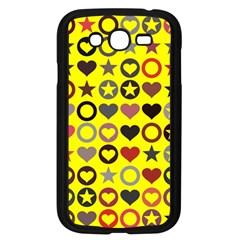 Heart Circle Star Seamless Pattern Samsung Galaxy Grand Duos I9082 Case (black) by Amaryn4rt