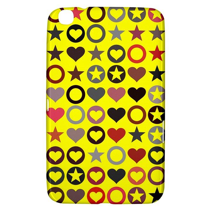 Heart Circle Star Seamless Pattern Samsung Galaxy Tab 3 (8 ) T3100 Hardshell Case