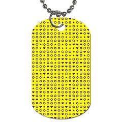 Heart Circle Star Seamless Pattern Dog Tag (two Sides) by Amaryn4rt