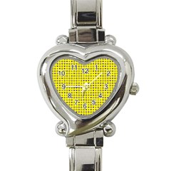 Heart Circle Star Seamless Pattern Heart Italian Charm Watch by Amaryn4rt