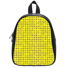 Heart Circle Star Seamless Pattern School Bags (small)  by Amaryn4rt