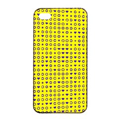 Heart Circle Star Seamless Pattern Apple Iphone 4/4s Seamless Case (black) by Amaryn4rt