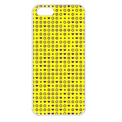 Heart Circle Star Seamless Pattern Apple Iphone 5 Seamless Case (white) by Amaryn4rt