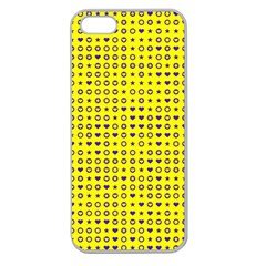 Heart Circle Star Seamless Pattern Apple Seamless Iphone 5 Case (clear) by Amaryn4rt