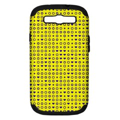 Heart Circle Star Seamless Pattern Samsung Galaxy S Iii Hardshell Case (pc+silicone) by Amaryn4rt