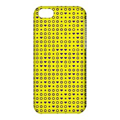 Heart Circle Star Seamless Pattern Apple Iphone 5c Hardshell Case by Amaryn4rt