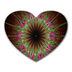 Julian Star Star Fun Green Violet Heart Mousepads by Amaryn4rt
