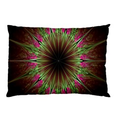 Julian Star Star Fun Green Violet Pillow Case (two Sides) by Amaryn4rt