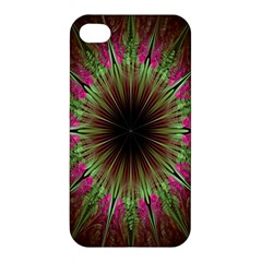 Julian Star Star Fun Green Violet Apple Iphone 4/4s Hardshell Case by Amaryn4rt