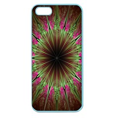 Julian Star Star Fun Green Violet Apple Seamless Iphone 5 Case (color) by Amaryn4rt
