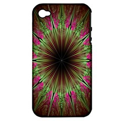 Julian Star Star Fun Green Violet Apple Iphone 4/4s Hardshell Case (pc+silicone) by Amaryn4rt
