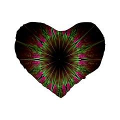 Julian Star Star Fun Green Violet Standard 16  Premium Heart Shape Cushions