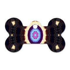 Mandala Art Design Pattern Ornament Flower Floral Dog Tag Bone (two Sides) by Amaryn4rt