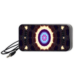 Mandala Art Design Pattern Ornament Flower Floral Portable Speaker (black) by Amaryn4rt