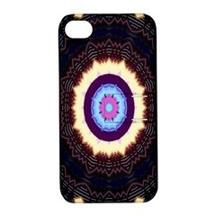 Mandala Art Design Pattern Ornament Flower Floral Apple Iphone 4/4s Hardshell Case With Stand by Amaryn4rt