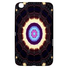 Mandala Art Design Pattern Ornament Flower Floral Samsung Galaxy Tab 3 (8 ) T3100 Hardshell Case