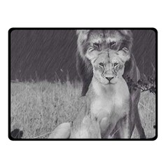 King And Queen Of The Jungle Design  Double Sided Fleece Blanket (small)  by FrontlineS