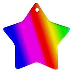 Multi Color Rainbow Background Ornament (star) by Amaryn4rt