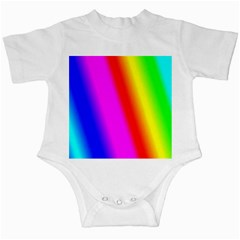 Multi Color Rainbow Background Infant Creepers by Amaryn4rt