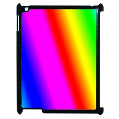Multi Color Rainbow Background Apple Ipad 2 Case (black) by Amaryn4rt
