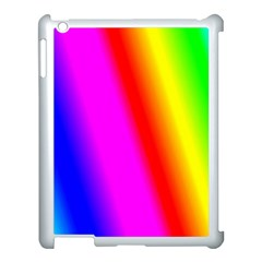Multi Color Rainbow Background Apple Ipad 3/4 Case (white) by Amaryn4rt