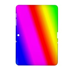 Multi Color Rainbow Background Samsung Galaxy Tab 2 (10 1 ) P5100 Hardshell Case  by Amaryn4rt