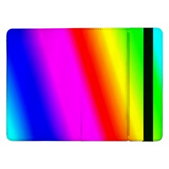 Multi Color Rainbow Background Samsung Galaxy Tab Pro 12 2  Flip Case by Amaryn4rt