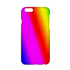 Multi Color Rainbow Background Apple Iphone 6/6s Hardshell Case by Amaryn4rt