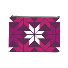 Pattern Background Texture Aztec Cosmetic Bag (large)  by Amaryn4rt