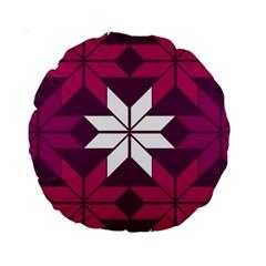 Pattern Background Texture Aztec Standard 15  Premium Round Cushions by Amaryn4rt