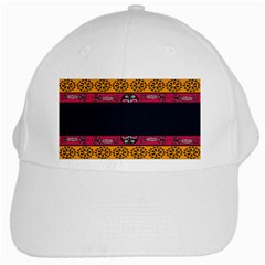 Pattern Ornaments Africa Safari Summer Graphic White Cap by Amaryn4rt