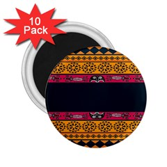 Pattern Ornaments Africa Safari Summer Graphic 2 25  Magnets (10 Pack)  by Amaryn4rt